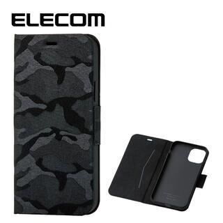 iPhone 11 Pro ケース エレコム レザー手帳型ケース 薄型・超軽量 迷彩 カモフラ ブラック iPhone 11 Pro