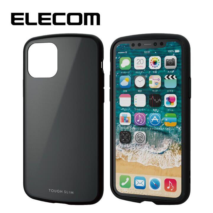 iPhone 11 Pro ケース エレコム TOUGH SLIM LITE 衝撃吸収ケース ブラック iPhone 11 Pro_0