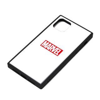 iPhone 11 ケース MARVEL ガラスハイブリッドケース ロゴ/ホワイト iPhone 11