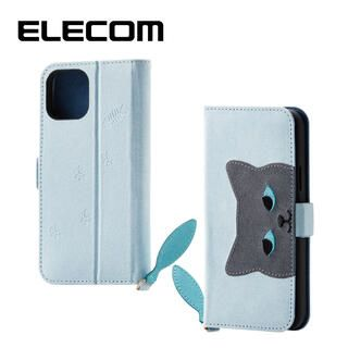 iPhone 11 Pro ケース エレコム おしゃれ ネコ手帳型TPUケース ブルー iPhone 11 Pro