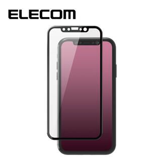iPhone 11/XR フィルム エレコム ガラスコート保護フィルム 全面 反射防止 フチ iPhone 11/XR