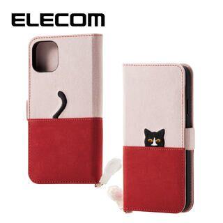 iPhone 11 ケース エレコム ネコ手帳型TPUケース ピンク×ブラウン iPhone 11