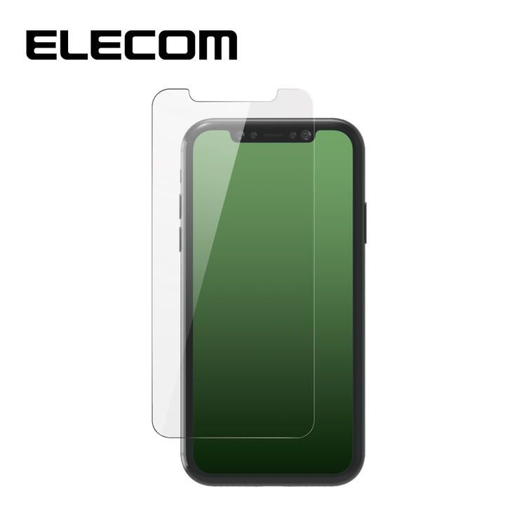 iPhone 11 Pro Max フィルム エレコム 強化ガラス 9H 指紋防止  エアーレス 0.33mm iPhone 11 Pro Max/XS Max_0