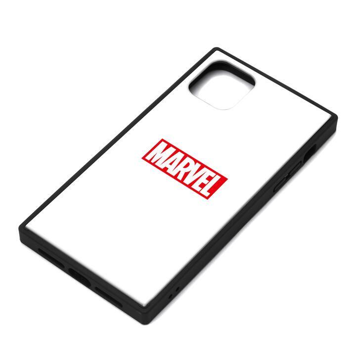 iPhone 11 Pro Max ケース MARVEL ガラスハイブリッドケース ロゴ/ホワイト iPhone 11 Pro Max_0