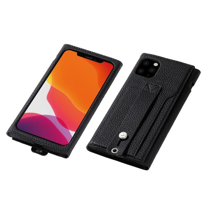 iPhone 11 Pro ケース clings Slim Hand Strap Case ブラック iPhone 11 Pro_0