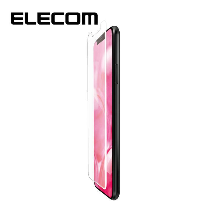 iPhone XR フィルム エレコム フルカバー超耐衝撃保護フィルム 反射 / 指紋 防止 ホワイト iPhone 11/XR_0