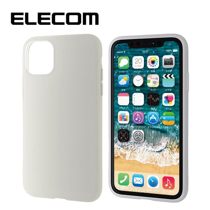 iPhone 11 ケース エレコム シリコン シンプル 耐衝撃 クリア iPhone 11_0