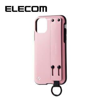 iPhone 11 ケース エレコム ベルト付き TOUGH SLIM 耐衝撃ケース ピンク iPhone 11