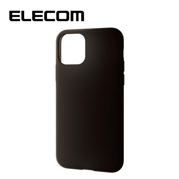 iPhone 11 Pro ケース エレコム シリコン シンプル 耐衝撃 ブラック iPhone 11 Pro_0