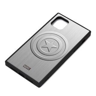 iPhone 11 Pro Max ケース MARVEL ガラスハイブリッドケース キャプテン・アメリカ/シルバー iPhone 11 Pro Max