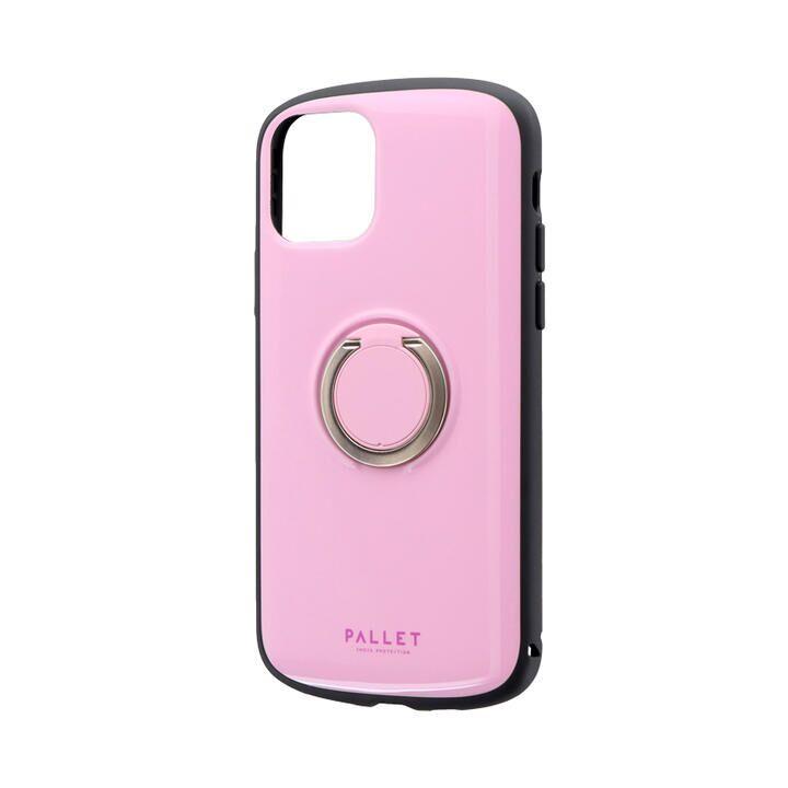 耐衝撃リング付ハイブリッドケース「PALLET RING」 ピンク iPhone 11 Pro【9月中旬】_0