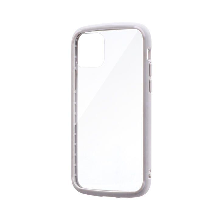 耐衝撃ガラスハイブリッドケース「PALLET GLASS」 ライトグレー iPhone 11 Pro【9月中旬】_0