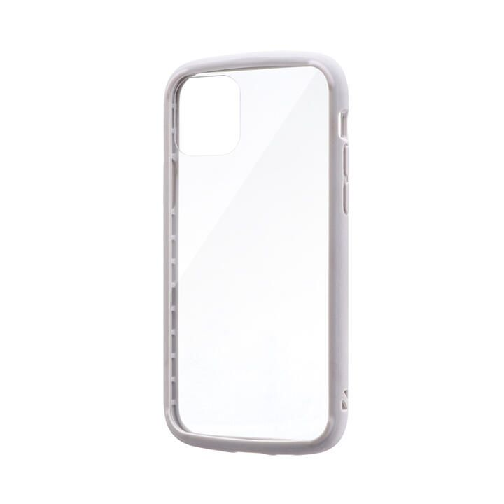 iPhone 11 Pro ケース 耐衝撃ガラスハイブリッドケース「PALLET GLASS」 ライトグレー iPhone 11 Pro_0