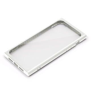 iPhone 11 Pro Max ケース クリアガラス タフケース スクエア型 ホワイト iPhone 11 Pro Max
