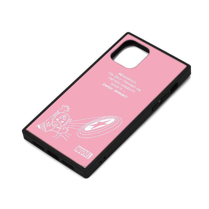 iPhone 11 Pro ケース MARVEL ガラスハイブリッドケース キャプテン・アメリカ/ピンク iPhone 11 Pro_0