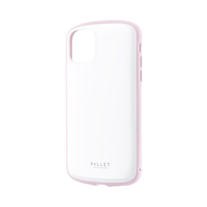 iPhone 11 ケース 超軽量・極薄・耐衝撃ハイブリッドケース「PALLET AIR」 ホワイトピンク iPhone 11_0