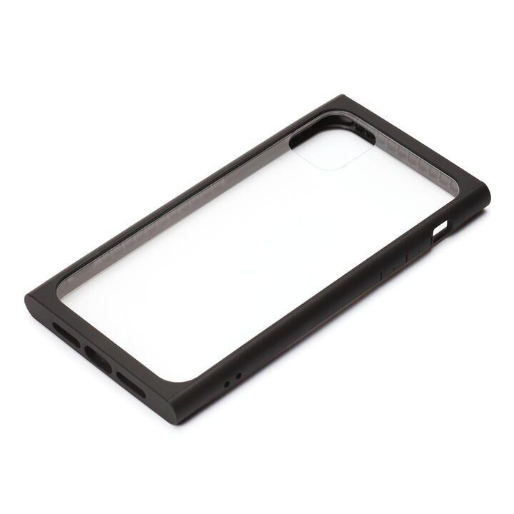 iPhone 11 Pro ケース クリアガラス タフケース スクエア型 ブラック iPhone 11 Pro_0