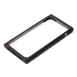 iPhone 11 Pro ケース クリアガラス タフケース スクエア型 ブラック iPhone 11 Pro
