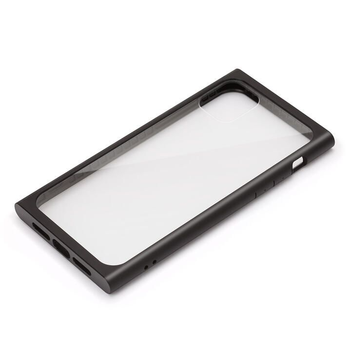 iPhone 11 Pro Max ケース クリアガラス タフケース スクエア型 ブラック iPhone 11 Pro Max_0