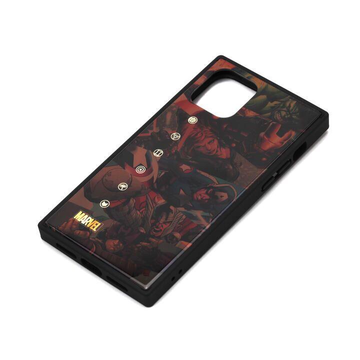 iPhone 11 Pro ケース MARVEL ガラスハイブリッドケース アベンジャーズ/ブラウン iPhone 11 Pro_0