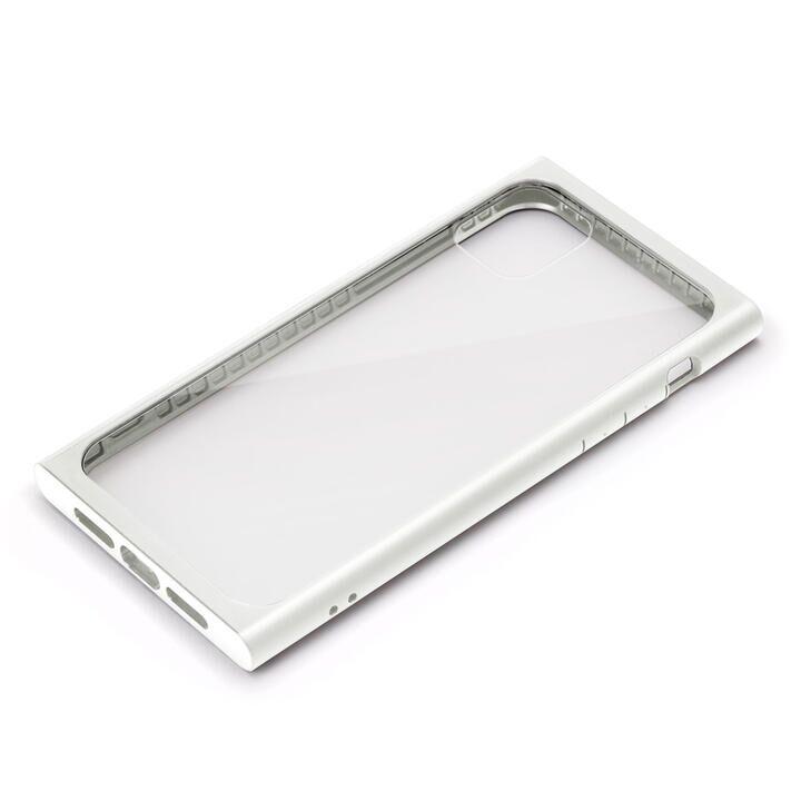 iPhone 11 Pro Max ケース クリアガラス タフケース スクエア型 ホワイト iPhone 11 Pro Max_0