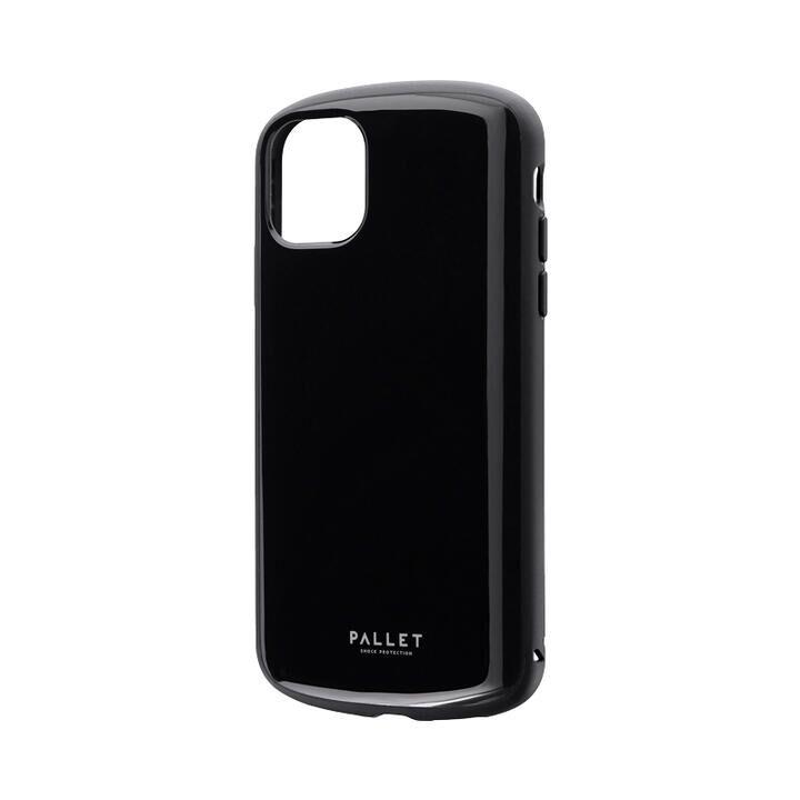 超軽量・極薄・耐衝撃ハイブリッドケース「PALLET AIR」 ブラック iPhone 11【9月中旬】_0