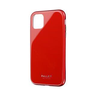 iPhone 11 ケース ガラスハイブリッドケース「SHELL GLASS COLOR」 レッド iPhone 11