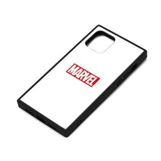 iPhone 11 Pro ケース MARVEL ガラスハイブリッドケース ロゴ/ホワイト iPhone 11 Pro