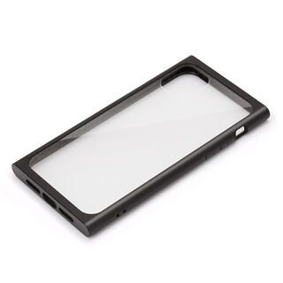 iPhone 11 Pro Max ケース クリアガラス タフケース スクエア型 ブラック iPhone 11 Pro Max