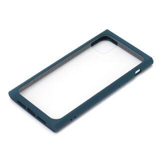 iPhone 11 Pro ケース クリアガラス タフケース スクエア型 ネイビー iPhone 11 Pro