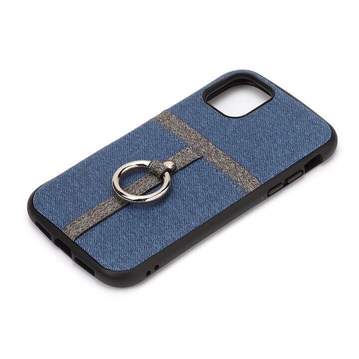 iPhone 11 Pro ケース ポケット&リング付ハイブリッドタフケース デニム調ブルー iPhone 11 Pro_0