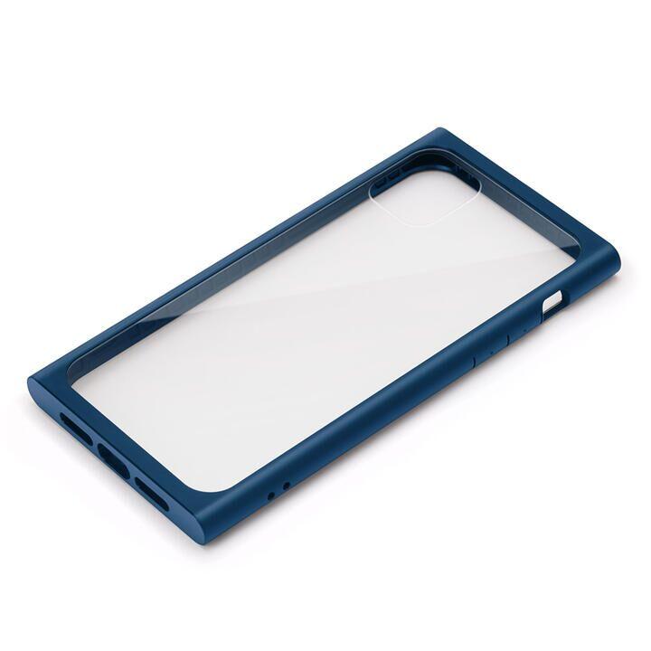 iPhone 11 Pro Max ケース クリアガラス タフケース スクエア型 ネイビー iPhone 11 Pro Max_0