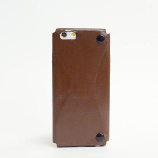 本革一枚で包み込むケース mobakawa カンガルー ブラウン iPhone6ケース