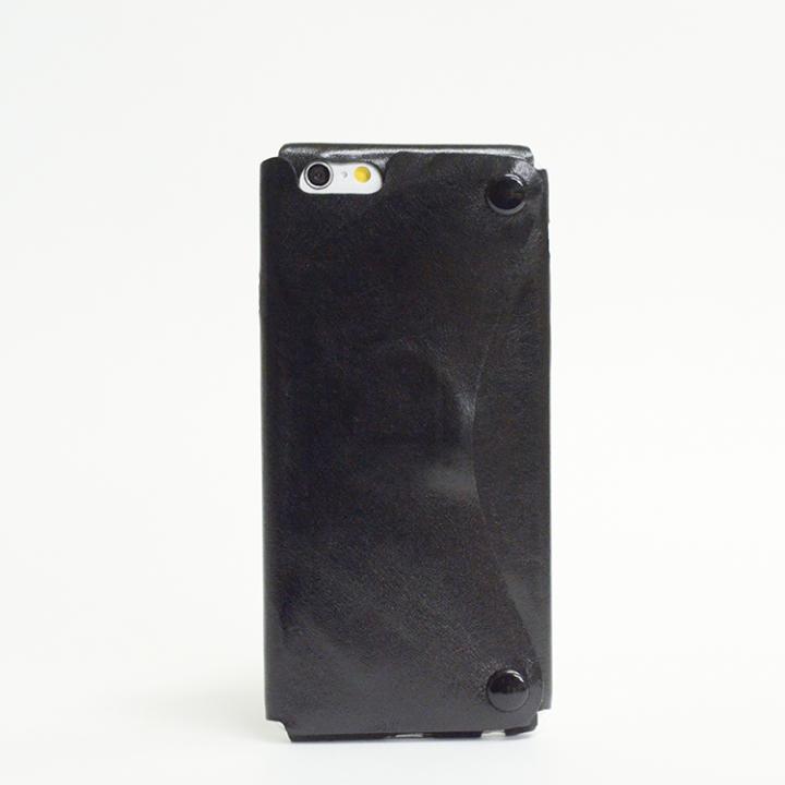 【iPhone6ケース】本革一枚で包み込むケース mobakawa カンガルー ブラック iPhone6ケース_0
