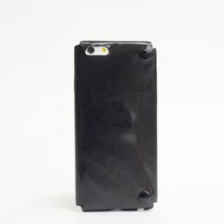 本革一枚で包み込むケース mobakawa カンガルー ブラック iPhone6ケース