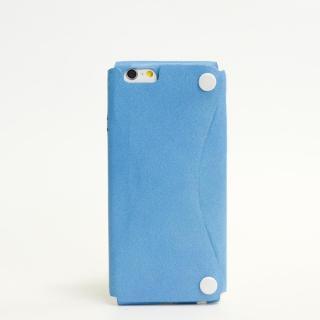 本革一枚で包み込むケース mobakawa カンガルー スカイブルー iPhone6ケース