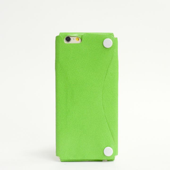 本革一枚で包み込むケース mobakawa カンガルー ライム iPhone6ケース