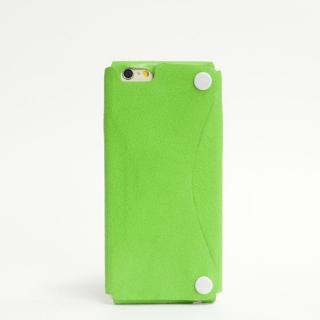 【iPhone6ケース】本革一枚で包み込むケース mobakawa カンガルー ライム iPhone6ケース