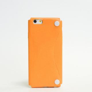 本革一枚で包み込むケース mobakawa カンガルー オレンジ iPhone6ケース