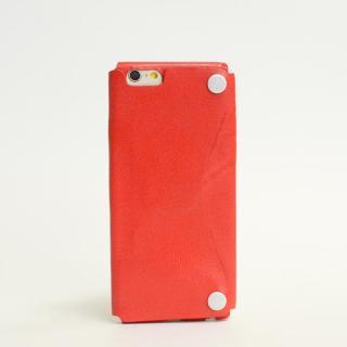 本革一枚で包み込むケース mobakawa カンガルー レッド iPhone6ケース