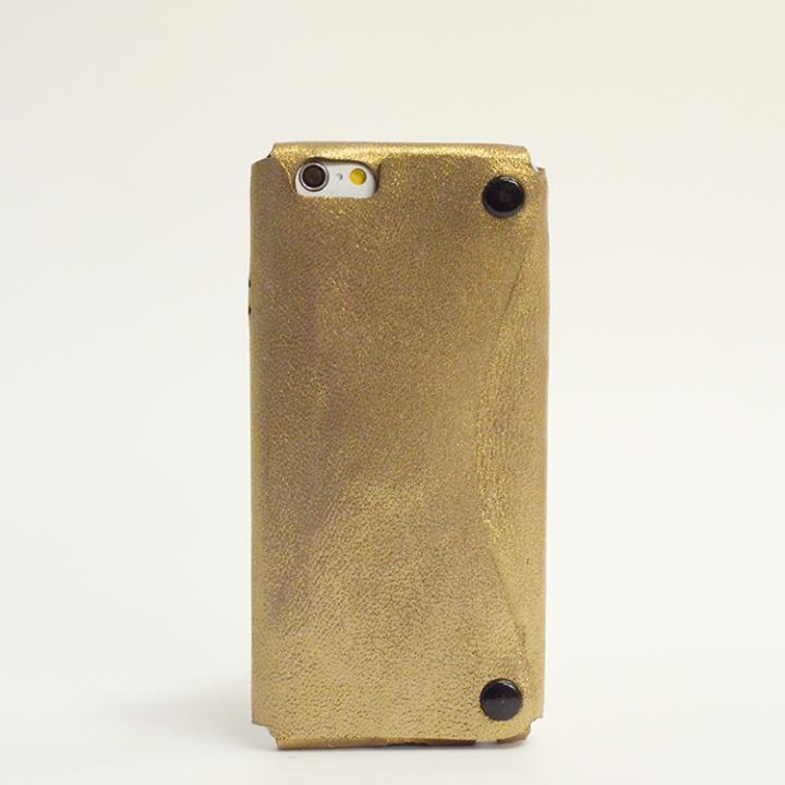 【iPhone6ケース】本革一枚で包み込むケース mobakawa シープレザーシープゴールド iPhone 6ケース_0
