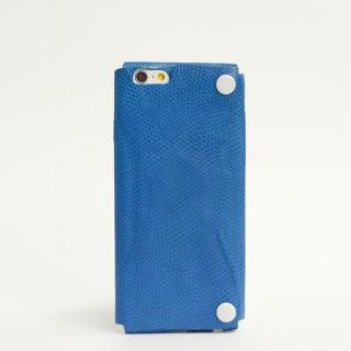 本革一枚で包み込むケース mobakawa カウレザー エキゾチックブルー iPhone 6ケース