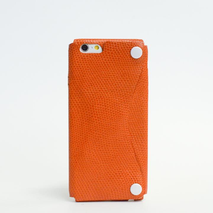 本革一枚で包み込むケース mobakawa カウレザー エキゾチックオレンジ iPhone 6ケース