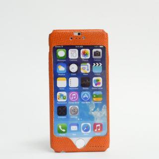 【iPhone6ケース】本革一枚で包み込むケース mobakawa カウレザー エキゾチックオレンジ iPhone 6ケース_1
