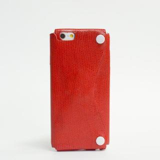 本革一枚で包み込むケース mobakawa カウレザー エキゾチックレッド iPhone 6s/6ケース