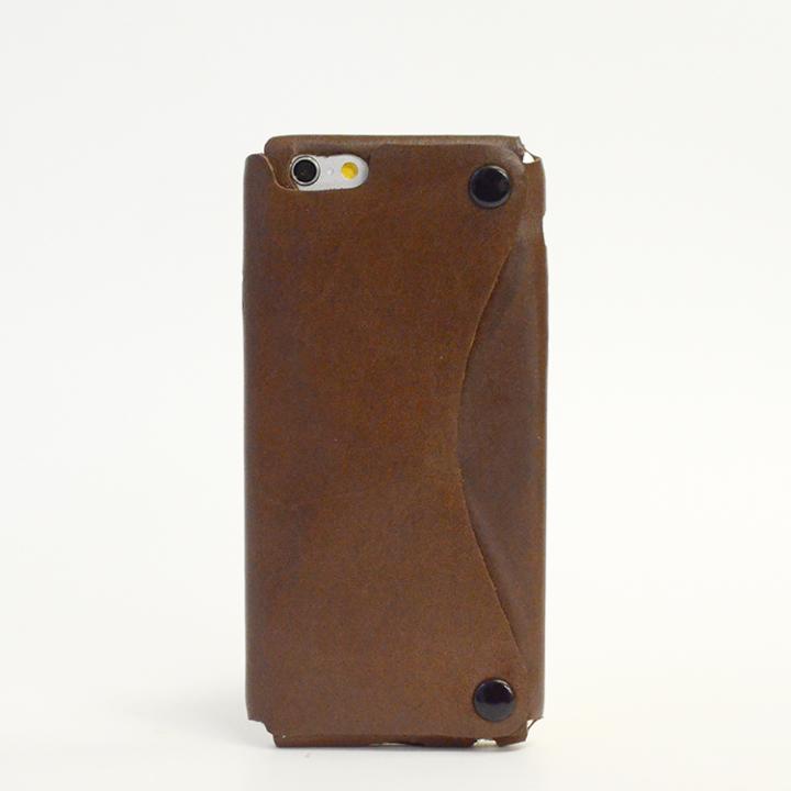 【iPhone6ケース】本革一枚で包み込むケース mobakawa イタリアンホースレザー ダークブラウン iPhone 6ケース_0