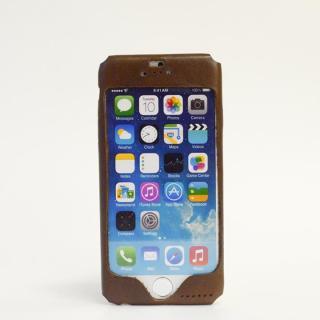 【iPhone6ケース】本革一枚で包み込むケース mobakawa イタリアンホースレザー ダークブラウン iPhone 6ケース_1