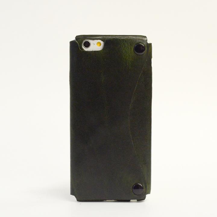 【iPhone6ケース】本革一枚で包み込むケース mobakawa イタリアンホースレザー カーキ iPhone 6ケース_0