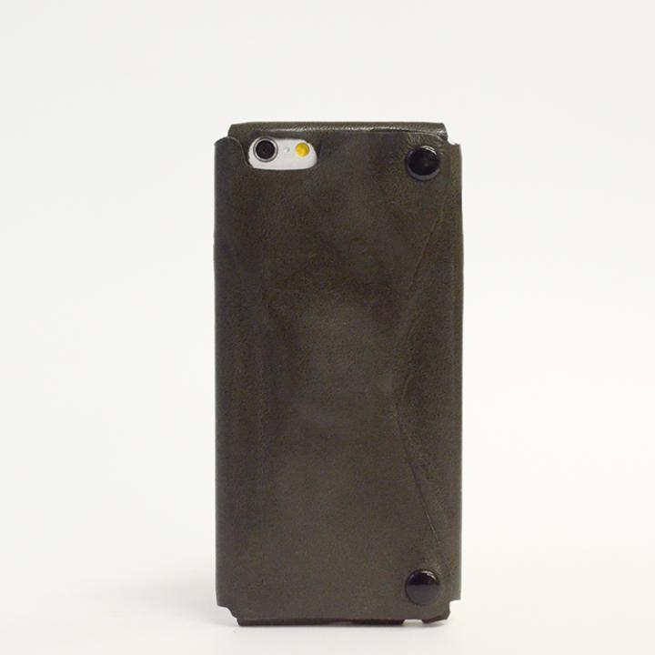 本革一枚で包み込むケース mobakawa イタリアンホースレザー ブラック iPhone 6s/6ケース