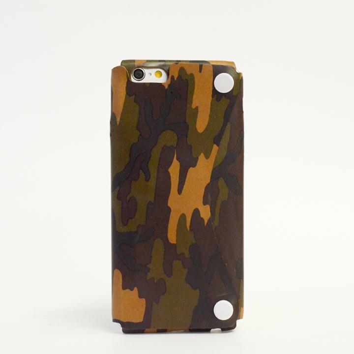本革一枚で包み込むケース mobakawa ヌメ カモフラージュ iPhone 6ケース